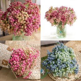 beautiful bouquets 2019 - Babysbreath Fake Flowers Plastic Artificial Flower For Fashion Wedding Favors Party Decoration Bride Beautiful Hand Tied