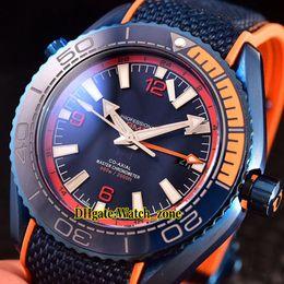 $enCountryForm.capitalKeyWord Australia - Cheap New Planet Ocean 600m Co-Axial GMT 215.92.46.22.03.001 Japan Miyota Automatic Blue Dial Mens Watch PVD Blue Case Ceramic Bezel Watches