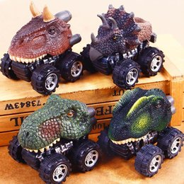 Mini plastic dinosaurs online shopping - Dinosaur Model Car Mini Toy Styles cm Pull Back Dragon Cute Kids Cars Baby Gifts OOA5785