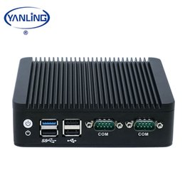 mini computer dual lan Canada - Yanling Hot selling Fanless Mini PC Intel Celeron J1900 Quad Core Dual Lan Nano Computer