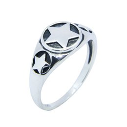top indian girls NZ - Free Shipping Size 6-10 Lady Girls 925 Sterling Silver Ring Jewelry Newest S925 Top Quality Polish Five-pointed star Ring