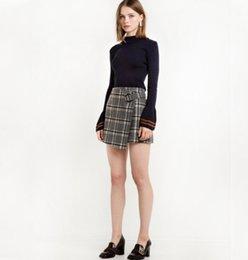 Haoduoyi Mode Herbst Frauen Pullover Jumper Sweet Chic Aufflackern Pullover Pullover Navy Blau Lässige Slim Fit Strickoberteil im Angebot