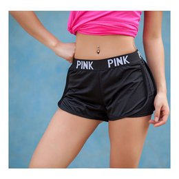 Vs Pink Shorts Canada - Summer Women Ladies Casual Shorts Cozy Multi Colors Breathable Elastic Waist VS Secrect Pink Shorts Striepd Body Fitness Workout