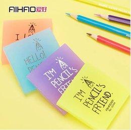 Aihao marca quadrado doce cor escola alunos crianças crianças mini geléia lápis colorido borracha borrachas escritório papelaria presente