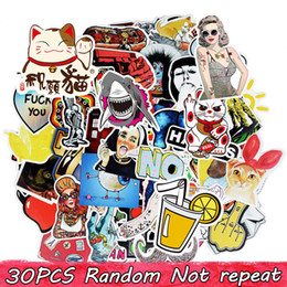 Diy Waterproof Vinyl Stickers Pack for Kids Teens Adults Home Decor Sticker Bomb Laptop Skateboard Luggage Bumper Car Decals Random 30 pcs on Sale