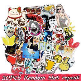Stickers bricolage affiches stickers muraux pour les chambres d'enfants autocollant de décoration pour la maison sur ordinateur portable skateboard bagages stickers muraux autocollant de voiture 30 pcs