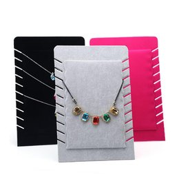 $enCountryForm.capitalKeyWord UK - Pendant Necklace Display Rack Folding Velvet Necklaces Holder Pad Organizer Portable for Booth Kiosk Trade Show Crafts Market Exhibition