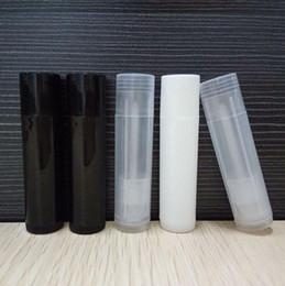 Discount refillable tubes - Wholesale 5g PP Lipstick Tube Plastic Transparent Refillable Empty Lip Balm Brush Gloss Packaging Bottle LX1317