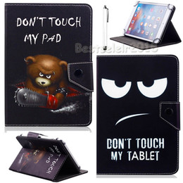 chuwi tablets 2019 - AIBOULLY Funny Don't Touch My Pad Universal Case for Chuwi Vi7 Android 5.1 3G Phablet 7 inch Quad Core Tablet Stand