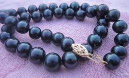 $enCountryForm.capitalKeyWord Canada - Wholesale -2018 9-10mm Tahaitian black Pearl Necklace Bracelet set 14k Valentine's Day present
