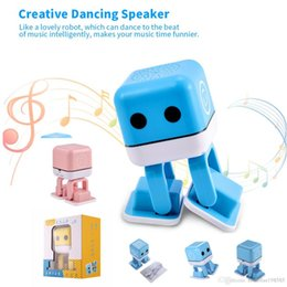 Epacket 1Pcs Bueskysea F-666 Blue Bluetooth Wireless Electronic Smart Robot Speaker With Dance Music Colorful LED Lights Mini Outdoor Indoor