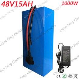 48V 15AH Batería 48V 15AH 1000W Ebike E-scooter Batería de iones de litio 30A BMS y 42V 2A Impuesto de aduana libre del cargador en venta