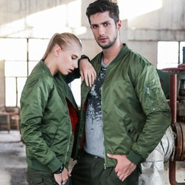 Army Green Motorcycle Jacket NZ - MA1 Men And Women Winter Warm Military Airborne Flight Tactical Bomber Jacket Army Air Force Fly Pilot Jacket Aviator Motorcycle Down Coat 8