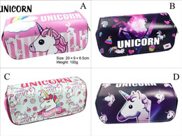 $enCountryForm.capitalKeyWord NZ - 4 Design Unicorn Pencil Bag Cartoon Student Pencil Cases Box Stationery Storage Bag School Office Supply Kids Gift Purse