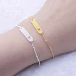 Delicate silver bracelets for women online shopping - Delicate Bar Cut Out Heart Bracelet For Women Silver color Stainless Steel Charms Bracelet Bangle Wedding Jewelry Love Gift