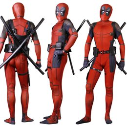 costume deadpool lycra NZ - Adult Unisex Lycra Spandex Zentai Halloween Cosplay Costumes 3D Style Jumpsuits Deadpool Cosplay Siamese Tights Cosplay Customizable