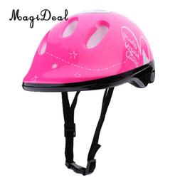 wrist skate 2019 - MagiDeal 7Pcs Kids Roller Skating Bike Helmet Knee Elbow Wrist Pad +12pcs Cones Pink cheap wrist skate