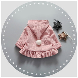 Cute Outfits For Spring Australia - 2017 Spring baby girl print cute hem jacket coats for baby girls clothes brand cotton hooded jacket outfit sports outerwear coat