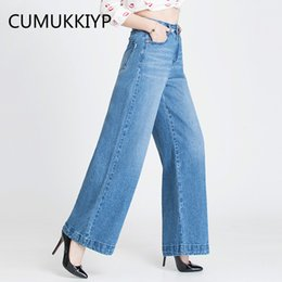 071973ea6a4d0 Bell Bottoms Jeans Women Canada - CUMUKKIYP Retro Washed Plus Size Jeans  Woman High Waist Jean