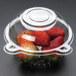 CupCake Cake box Container online shopping - Clear Plastic Disposable Plastic Cake Container Cupcakes Packaging Box Cake Box Salad Bakeware Kitchen Tool