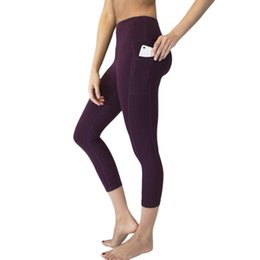 $enCountryForm.capitalKeyWord NZ - Vertvie Ankle-length Pant Capri Pant Sport Leggings Women Fitness Gym High Waist Legging With Side Pocket Slim Skinny Yoga