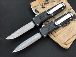 NyloN gear sets online shopping - HK Turmoil D A Camping Knife small C07 Damascus blade HRC EDC tactical gear Custom knife Knifes with nylon sheath