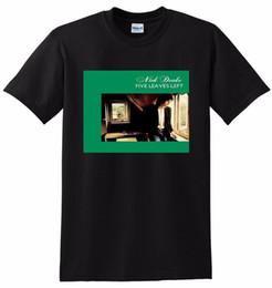 Drake T Shirts NZ - NICK DRAKE T SHIRT five leaves left Mens 2018 fashion Brand T Shirt O-Neck 100%cotton T-Shirt Tops Tee custom