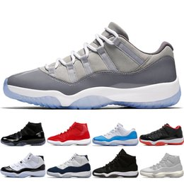 $enCountryForm.capitalKeyWord Canada - New 11 11s Cap and Gown Prom Night Mens Basketball Shoes Gym Red Bred PRM Heiress Barons Platinum Tint men Sports Sneakers outdoor designer