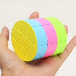 China Children Intelligence Toy New Pattern Funny Three Order Cylinde Compete In Speed Special Competition Puzzle Magic Cube 4 8my W cheap special new toys suppliers
