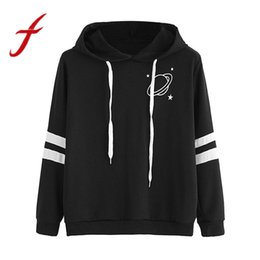 Discount ladies girl hoodies - Feitong Fashion Womens Sweatshirts Hoodies Girls Ladies Causal Saturn Print Long Sleeve Sweatshirt Tops Pollovers sudade