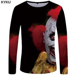 clown tshirt 2019 - KYKU Brand Clown Long T-shirt Men Blood Tshirt Punk Rock 5a69e9da0