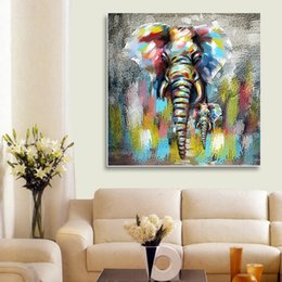 Living Room ELephant Decor Online Shopping   Abstract Elephant Type Oil  Painting Cartoon Style Paintings Frameless