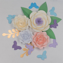 $enCountryForm.capitalKeyWord NZ - DIY Paper Flowers Backdrop Decorative Artificial Flowers Set Wedding & Event Decorations Half Made Flower Vedio Tutorials