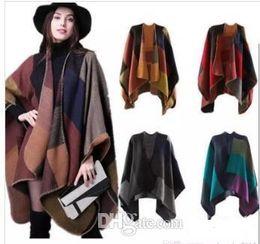 $enCountryForm.capitalKeyWord Canada - New Brand Women's Winter Poncho Vintage Blanket Women's Lady Knit Shawl Cape Cashmere Scarf Poncho TO353