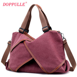 Discount winter cotton women handbag - New Desigh Women Autumn and Winter Canvsa Handbag Female Fashion Bags Large Capacity Shoulder Bags Solid Crossbody Tote