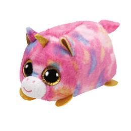 f1d04055935 Teeny Tys Plush Blue Owl 9cm Original Ty Beanie Boos Big Eyes Dog Plush Toy  Doll Baby Kids Gift TY Beanie Boos