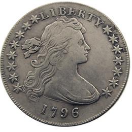 Соединенные Штаты Америки 1796 Liberty латунь посеребренная реплика монеты письмо край заводская цена на Распродаже