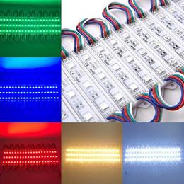 $enCountryForm.capitalKeyWord Australia - 20PCS 3LEDs SMD 5050 LED Modules Light DC12V Waterproof Lamp Advertising Light Backlight for Billboard RGB White Red Green Blue