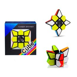 magic cube gyro 2019 - First-order fingertips decompression gyro spiral fidget spinner finger revolving magic cube puzzle smooth toys magic dec