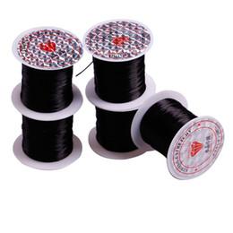 Vente en gros Fil de tissage ZF FIL ÉLASTIQUE pour la perruque Fil en cristal de couture 10M / Rouleau pour cheveux Trames Extensions de cheveux Accessoires de perruque sans soudure