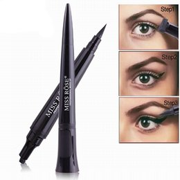 Discount miss eyeliner - MISS ROSE Quick Dry Waterproof Makeup Liquid Eyeliner Natural Eye Liner Pencil Maquiagem Wing Eye Liner with Stamp Penci