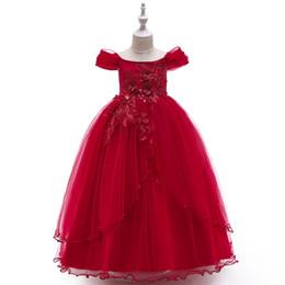 8e07a9ebed Encantadores vestidos para niñas de flores para bodas Fiesta Princesa Encaje  Tul blanco Longitud del piso Vestido de fiesta Vestidos de dama de honor  para ...