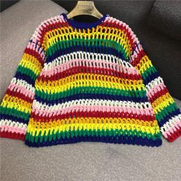 a15d703bb778 Knitted Jumper Women Rainbow Online Shopping