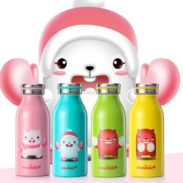 Second hand wholeSale online shopping - 4 Colors Stainless Steel Kids Cups ml Children Water Bottle Seconds Heat Changing Vacuum Cups Warm Hand