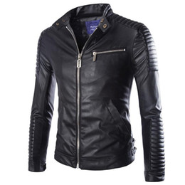 China Autumn Winter Luxury Pu Leather Jacket for Men Long Sleeve Motorcycle Jacket Male Stylish Slim Fit Jacket Black White Veste Cuir Homme M-2XL cheap faux jackets suppliers