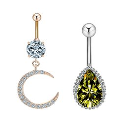 $enCountryForm.capitalKeyWord Australia - Sexy Navel Belly Button Rings Belly Navel Piercing Surgical Steel Belly Dance Bars Body Jewelry Piercing Barbell