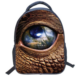 european style backpacks NZ - 2018 New Popular Pupils 3D dinosaur Print Backpack European and American Style Students Bags Kindergarten children Fashion Backpack Hot