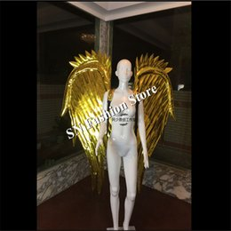 Discount mirrored clothing - AS70 Gold mirror dj singer bra dress ballroom disco belly dance costumes cosplay car model catwalk stage clothes bar par