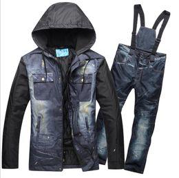 Warm Waterproof Pants Men Australia - 2018 Men Ski Suit Winter Clothing Waterproof Windproof Skiing Snowboard Jacket Pant Outdoor Sport Wear Male Super Warm Suit Set