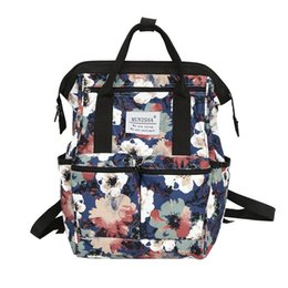 794244c758 Women Floral Printed Nylon Waterproof School Backpack For Girls Rucksack  Female Travel Backpack High Quality Large Laptop Bags